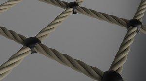 3D model realistic rope