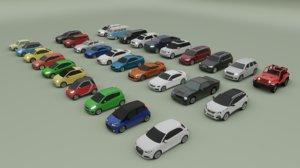30 cars suv sedan 3D