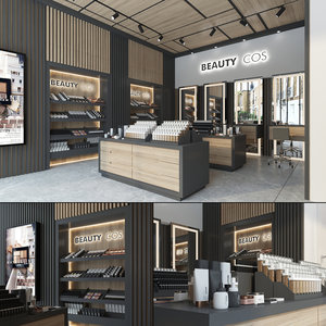 3D store interior cosmetics model