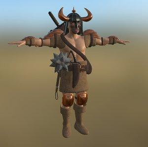 warrior pbr 3D