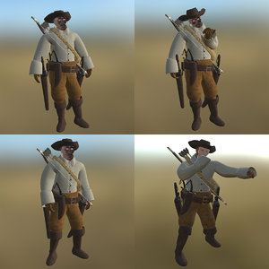 pirate pose pbr model