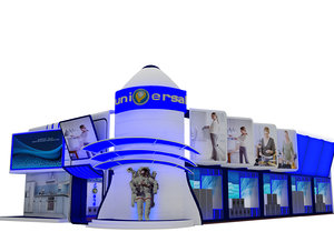 3D fair tent exhibition
