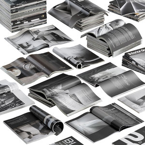 3D magazines dark model