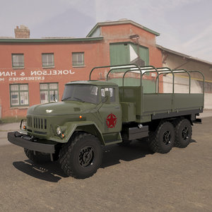 cryengine zil army truck 3D model