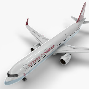 3D a321 neo cathay dragon model