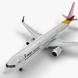 a321 neo capital airlines 3D model