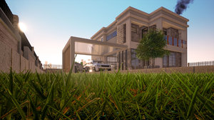 house architectural building 3D model