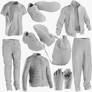 3D mesh clothing mix 7 model