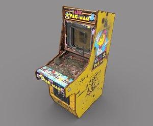 old arcade machine 3D model