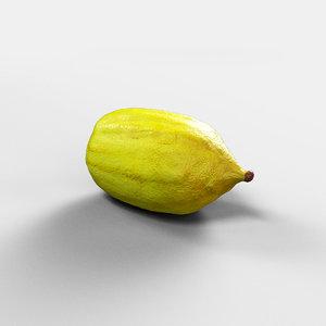 etrog citron jews 3D model