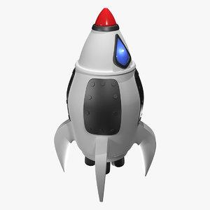 toy rocket spaceship formats 3D