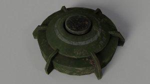 landmine explosive bomb 3D