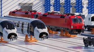 3D model train factory