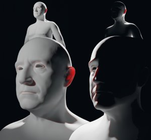 3D base mesh middle-aged man model