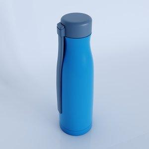 tupperware inspired water bottle 3D model