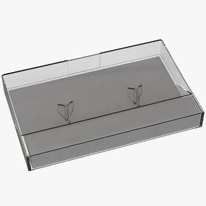 3D model cassette tape box