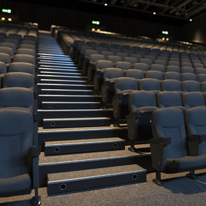 3D real theater interior scene model
