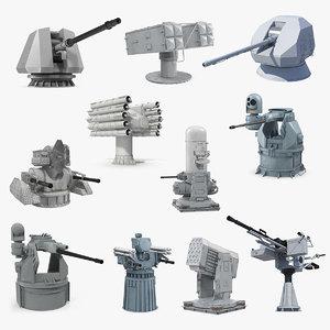 deck guns 5 3D