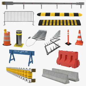 3D road barriers 10