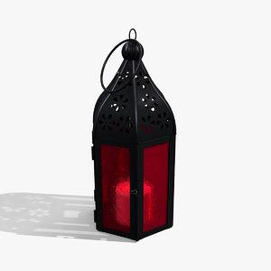 3D model moroccan lantern