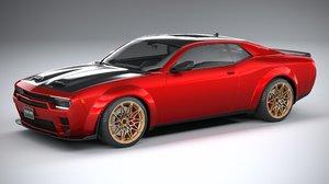3D generic muscle car model