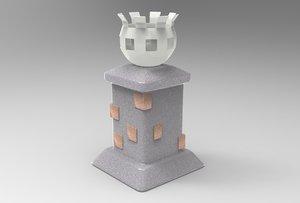 brazier ready 3D model