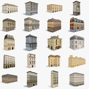 old apartment house 3D
