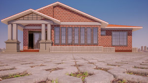 building architecture house 3D model