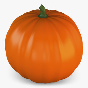 3D cartoon pumpkin v 1