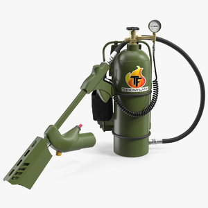throwflame xl18 flamethrower flame 3D model