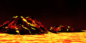 magma hell volcanic eruptions 3D model