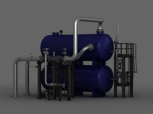 3D chloridizing boilers steam gas