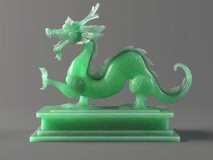 carved jade seal panlong 3D model