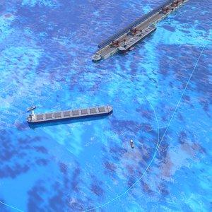water area seaport 3D model