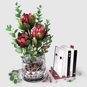 decor flowers model
