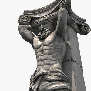 3D model column statue