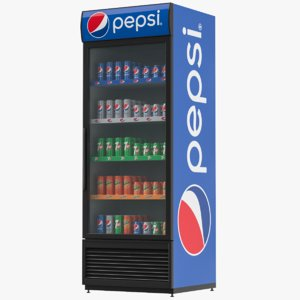 pepsi refrigerator display 3D model