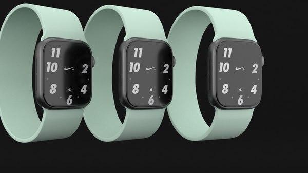 3D apple watch 6 green