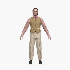 edward rigged 3D model
