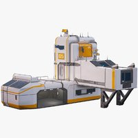 Interplanetary Modular Sci-Fi Building With The Garage