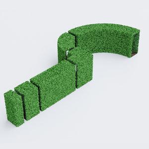 3D hedge assembled elements