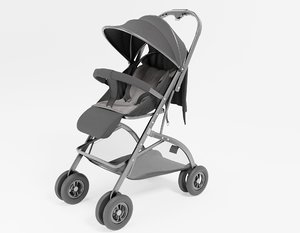 modeled baby strollers 3D