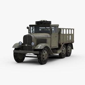 3D ww2 type 94 military truck