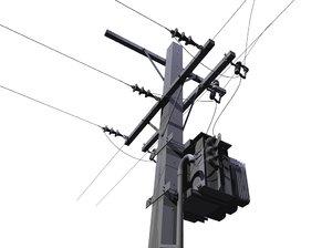 3D model pole