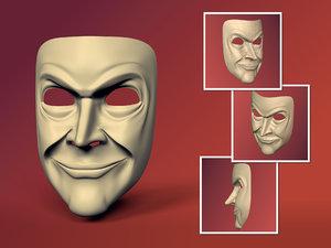 3D man mask original design model