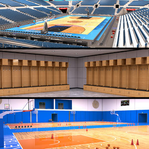 3D basketball arena room