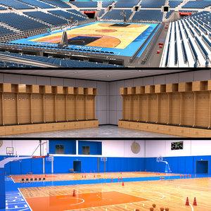 3D basketball arena room