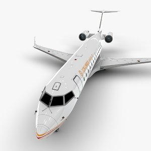 jet bombardier crj 200 3D model