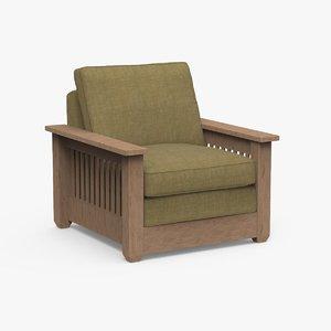 3D realistic garland chair