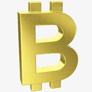bitcoin symbol 3D